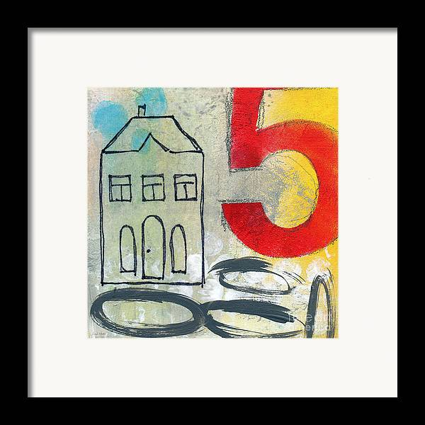 House Framed Print featuring the painting Abstract Landscape by Linda Woods