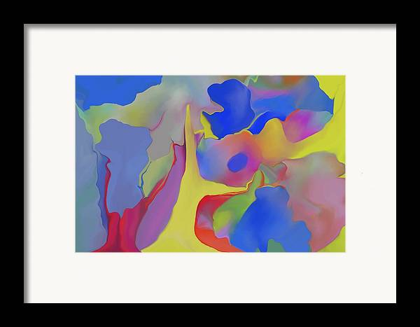 Abstract Framed Print featuring the digital art Abstract Landscape by Peter Shor