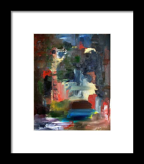 Art Framed Print featuring the painting Abstract Landscape by RB McGrath