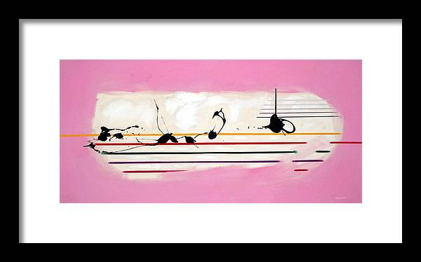 Abstract Framed Print featuring the painting Abstract... by Mario Zampedroni