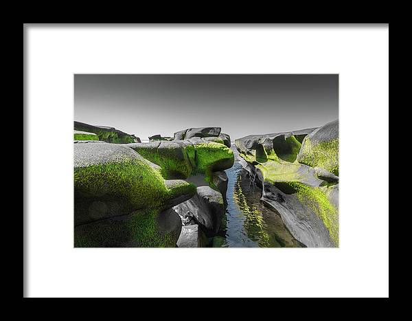 La Jolla Framed Print featuring the photograph Abstract Mood Selective Color by Scott Campbell