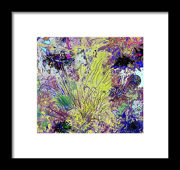 Abstract Framed Print featuring the photograph Abstract Musings by Ian MacDonald