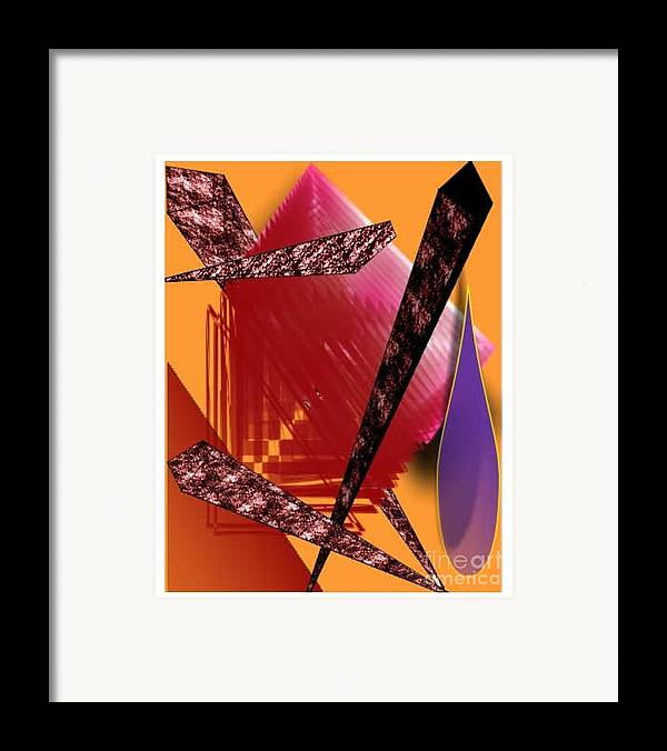 Abstracts Framed Print featuring the digital art Abstract-n-gold by Brenda L Spencer