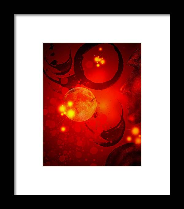 Office Wall Art Framed Print featuring the digital art Abstract-nebula by Patricia Motley