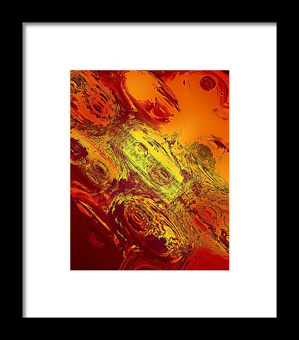 Office Wall Art Framed Print featuring the digital art Abstract Nine-masks by Patricia Motley