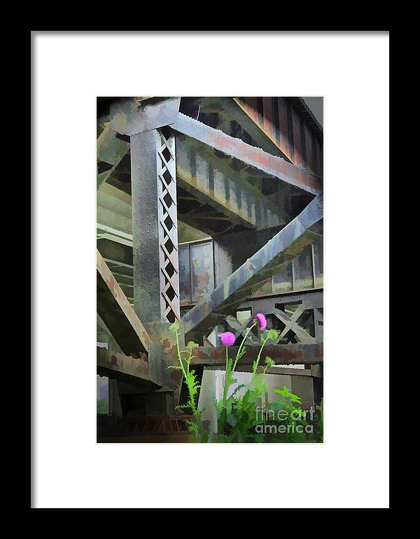 Abstract Framed Print featuring the photograph Abstract No. Nineteen by Tom Griffithe