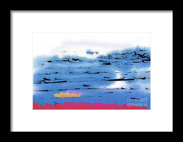 Abstract Art Framed Print featuring the digital art Abstract Ocean by Kirt Tisdale