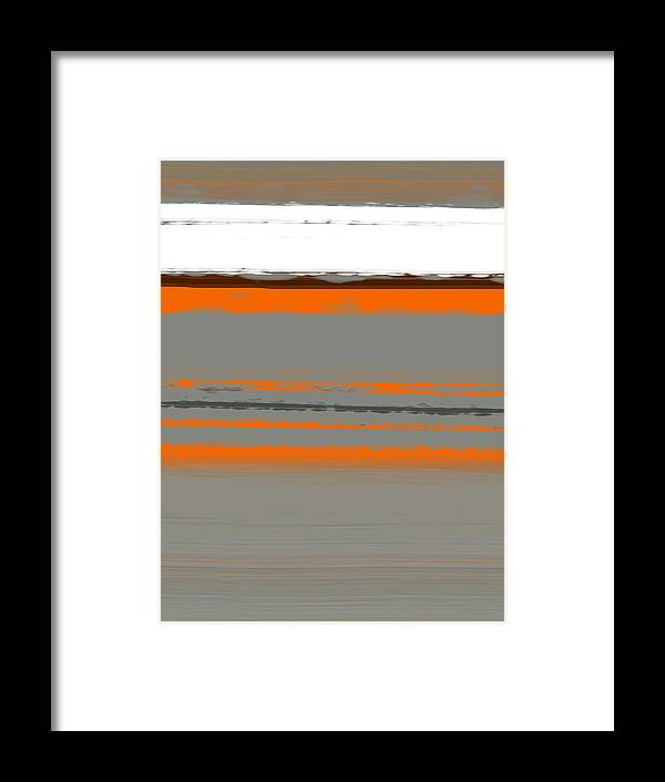 Abstract Framed Print featuring the painting Abstract Orange 2 by Naxart Studio