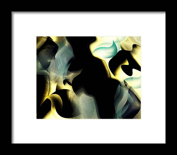 Office Art Framed Print featuring the digital art Abstract-organic by Patricia Motley