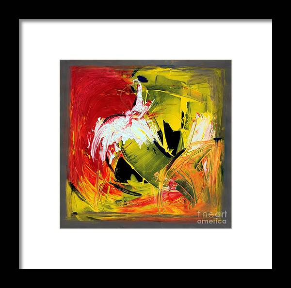 Abstarct Framed Print featuring the painting Abstract Painting by Mario Zampedroni