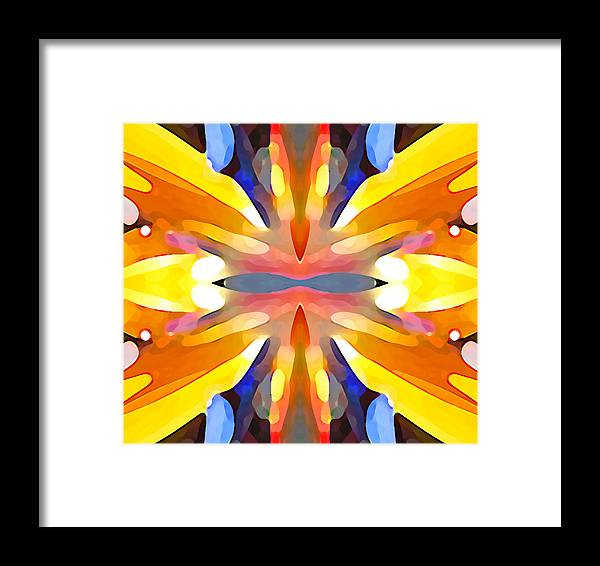 Abstract Art Framed Print featuring the painting Abstract Paradise by Amy Vangsgard