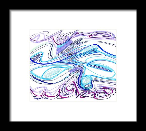 Abstract Framed Print featuring the drawing Abstract Pen Drawing Forty-two by Lynne Taetzsch