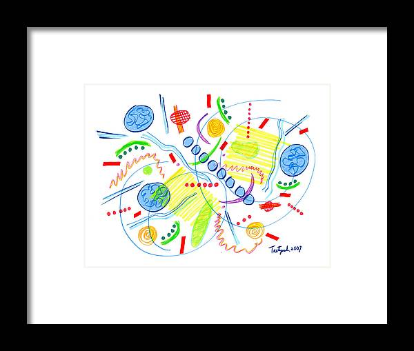 Abstract Framed Print featuring the drawing Abstract Pen Drawing Twenty-seven by Lynne Taetzsch