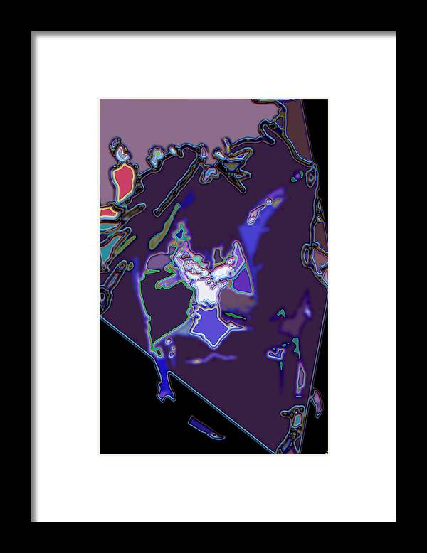 Abstract Framed Print featuring the digital art Abstract Plane by Ron Bissett