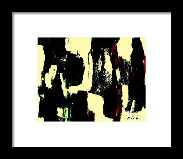 Abstract Print Framed Print featuring the painting Abstract Quilt by Marsha Heiken