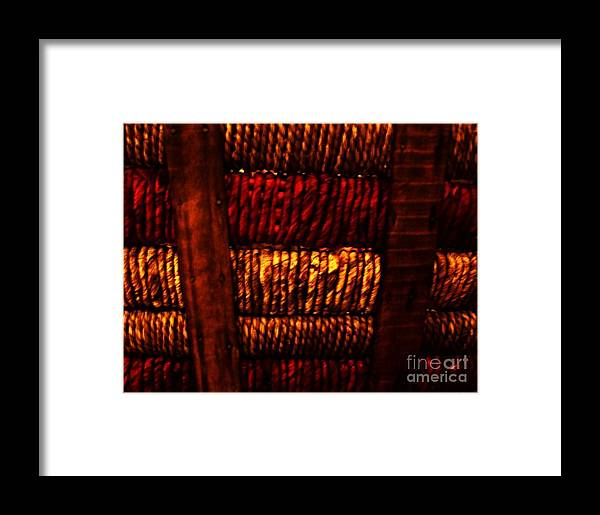 Photos Framed Print featuring the photograph Abstract Ribbed Rows by Marsha Heiken