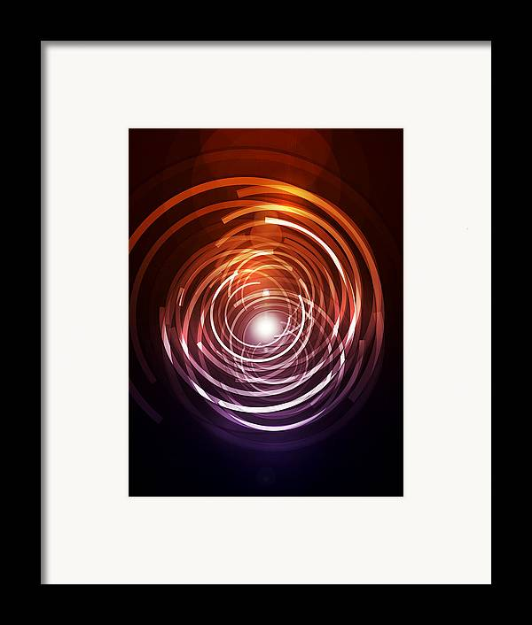Abstract Framed Print featuring the digital art Abstract Rings by Michael Tompsett