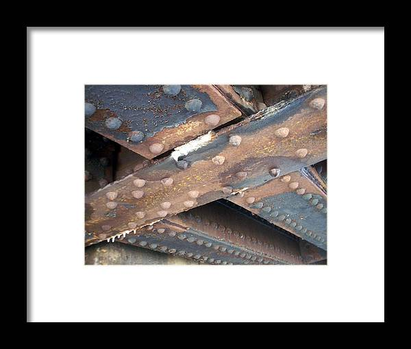 Urban Framed Print featuring the photograph Abstract Rust 2 by Anita Burgermeister