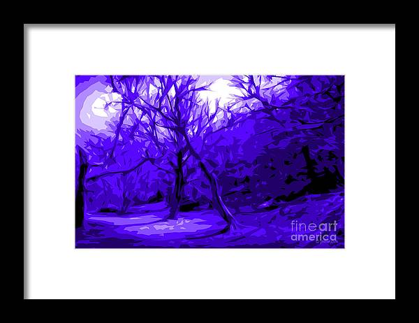 Abstract Landscape Framed Print featuring the digital art Abstract Sanctuary by Jacqueline Milner