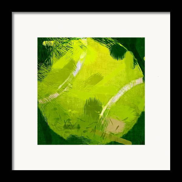 Tennis Framed Print featuring the photograph Abstract Tennis Ball by David G Paul