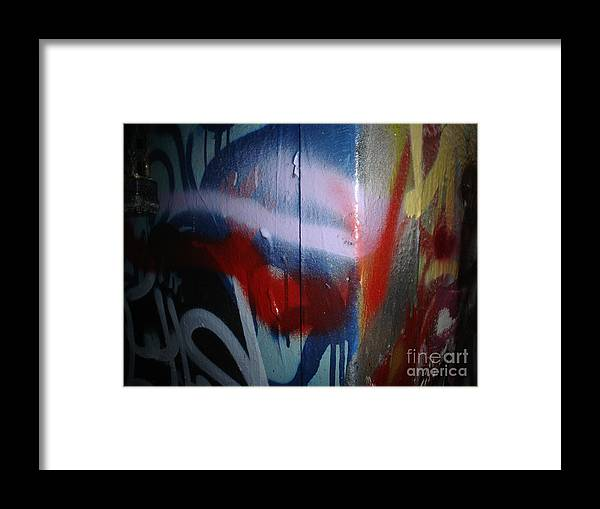 Abstract Urban Art Framed Print featuring the photograph Abstract Urban Art by Chandelle Hazen