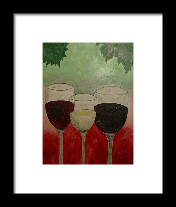 Wines Framed Print featuring the painting Abstract Wines by Guillermo Mason