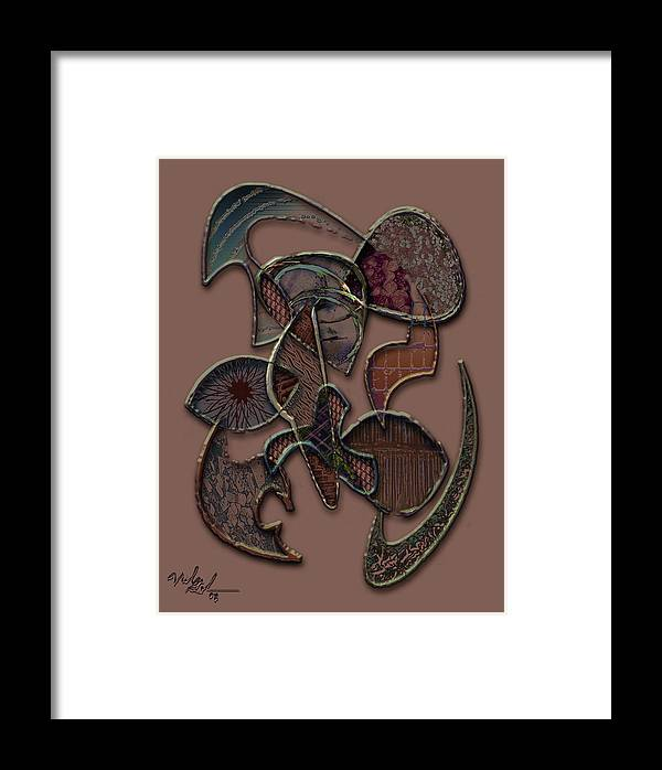 Abstract Framed Print featuring the digital art Abstract Works by Nicole Gedeon