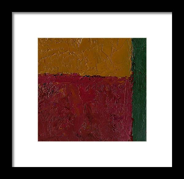 Framed Print featuring the painting Abstract Xv Green Buffer by Chris Riley