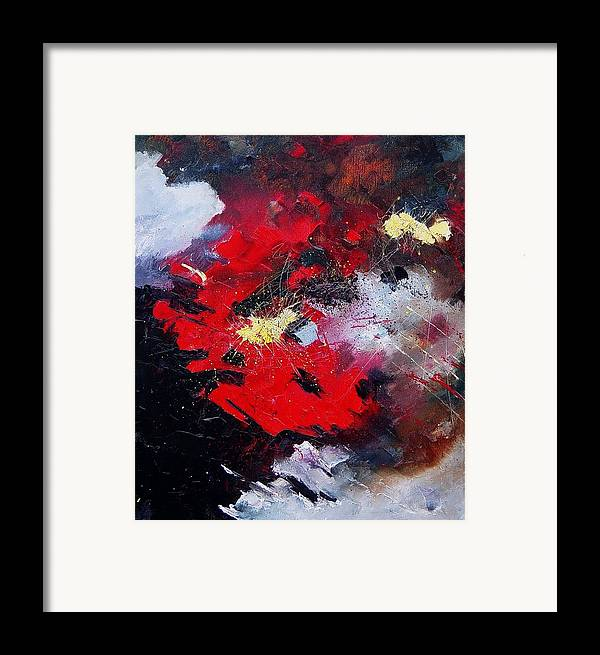 Abstract Framed Print featuring the painting Abstract070406 by Pol Ledent