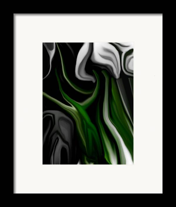 Abstract Framed Print featuring the digital art Abstract309h by David Lane
