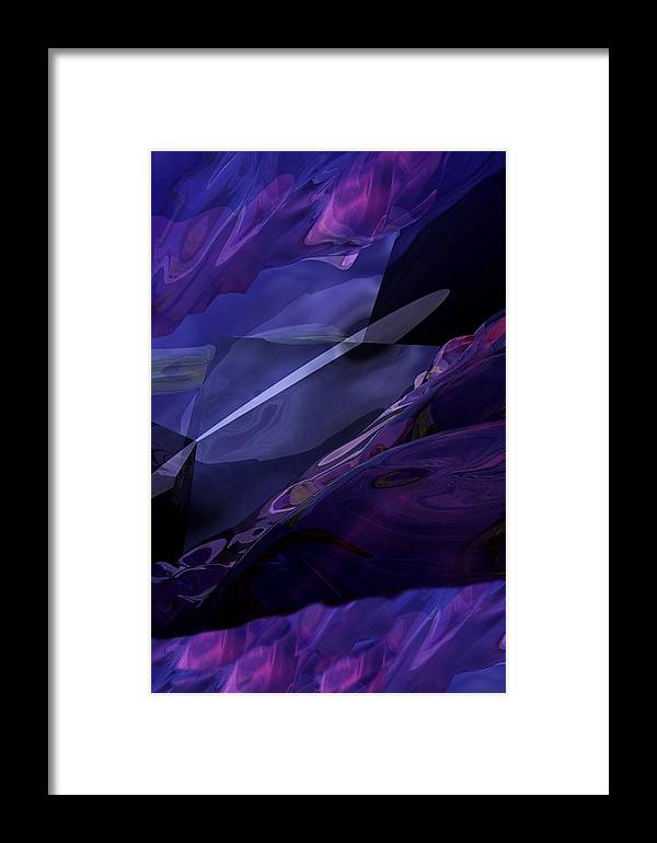 Abstract Framed Print featuring the digital art Abstractbr6-1 by David Lane
