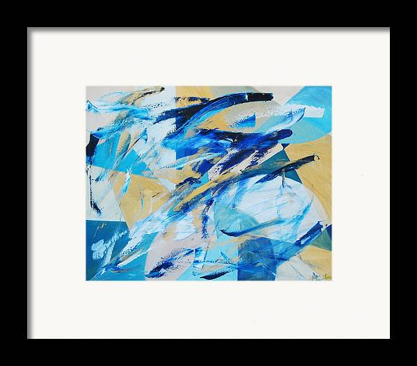 Geometry Framed Print featuring the painting Abstracted Geometry by Lauren Luna