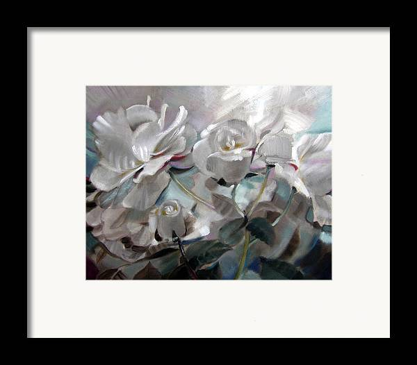 Floral Roses Framed Print featuring the painting Abstracted Roses by Patrick McClintock