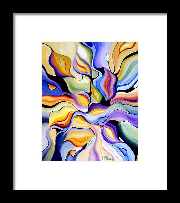 Abstract Art Framed Print featuring the painting Abstraction by Carola Ann-Margret Forsberg