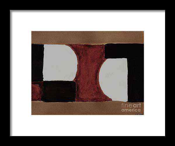 Painting Framed Print featuring the painting Abstraction by Marsha Heiken