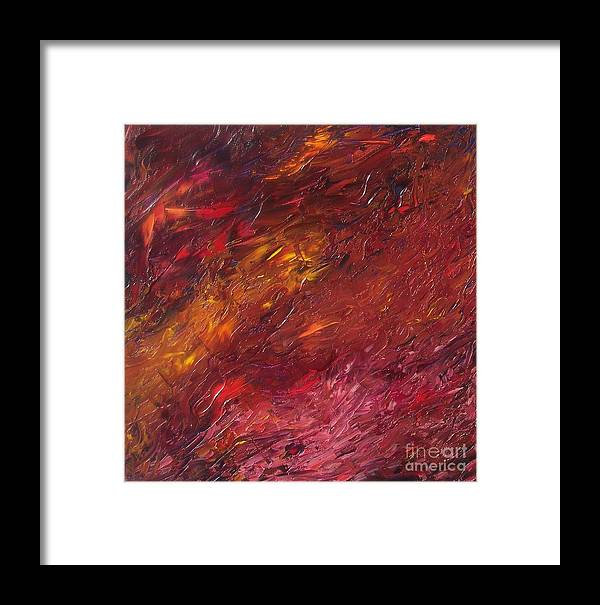 Abstract Framed Print featuring the painting Abstraction Of A Dream by Emily Young