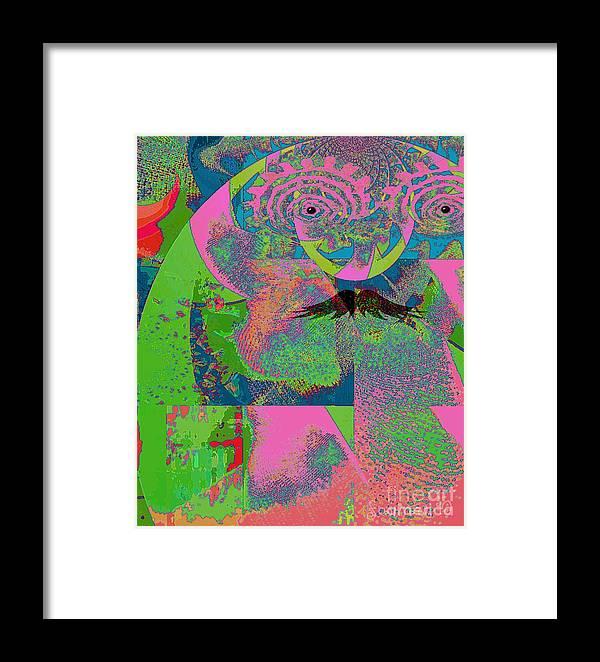 Fania Simon Framed Print featuring the mixed media Abstraction Of A New World by Fania Simon