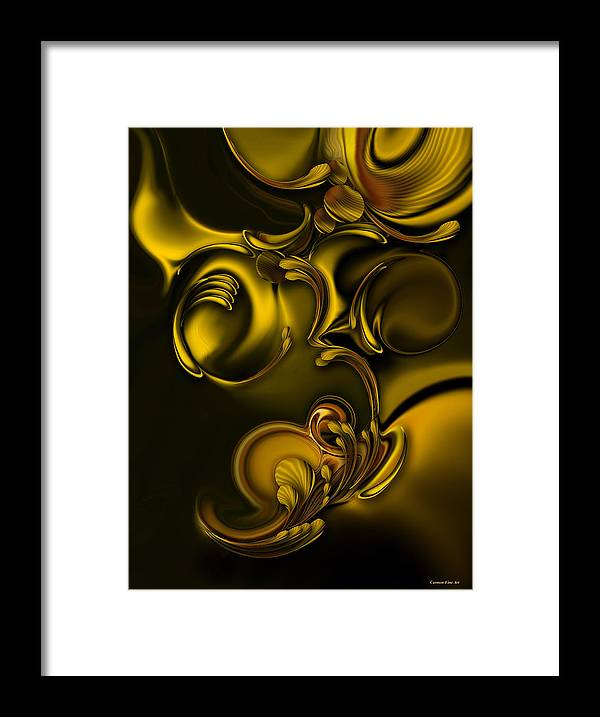 Abstraction Framed Print featuring the digital art Abstraction with Meditation by Carmen Fine Art