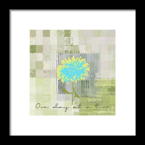 one Day At A Time Framed Print featuring the digital art Abstractionnel - 29grfl3c-gr3 by Variance Collections