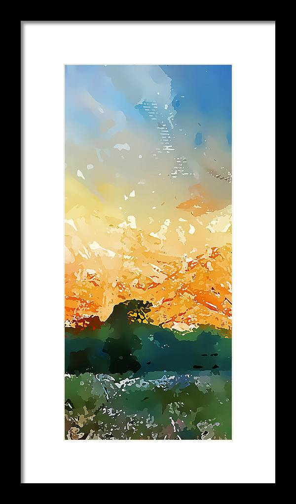 Abstract Framed Print featuring the photograph Abstractograpia IIi by Gareth Davies