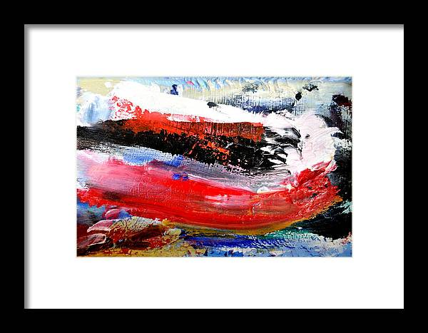 Abstract Framed Print featuring the painting Abstraktes Bild 25 by Eckhard Besuden