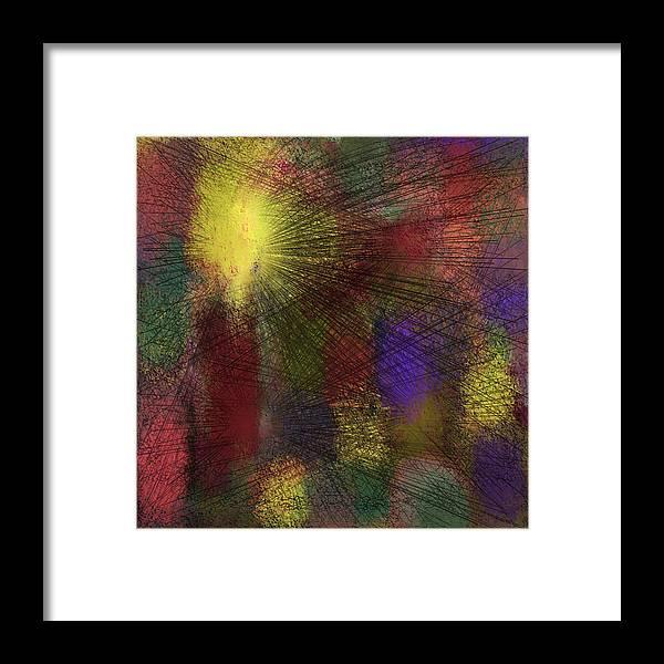 Digital Framed Print featuring the digital art Abstraktion in Farben by Ilona Burchard