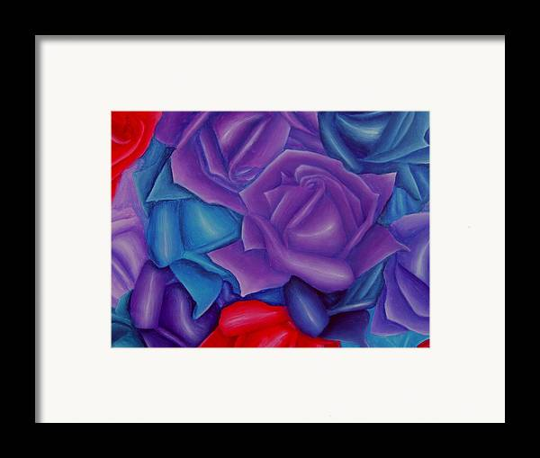 Flower Framed Print featuring the painting Abundance by Brandon Sharp