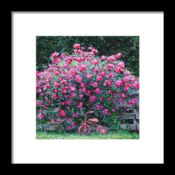 Landscape Framed Print featuring the painting Abundance by Kim Karelson