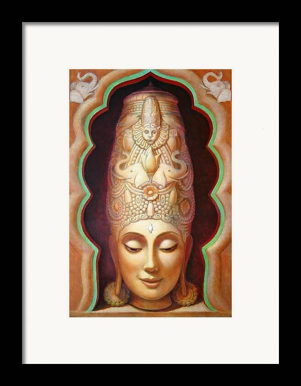 Meditation Framed Print featuring the painting Abundance Meditation by Sue Halstenberg