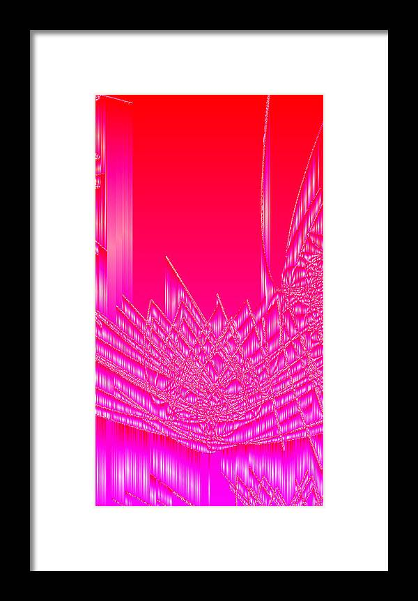 Rithmart Abstract Lines Organic Random Computer Digital Shapes Acanvas Art Bacground Colors Designed Digital Display Images One Random Series Shapes Smooth Spiky Streaming Three Using Framed Print featuring the digital art Ac-5-18 by Gareth Lewis