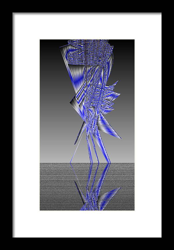 Rithmart Abstract Lines Organic Random Computer Digital Shapes Acanvas Art Background Colors Designed Digital Display Images One Random Series Shapes Smooth Spiky Streaming Three Using Framed Print featuring the digital art Ac-7-22-#rithmart by Gareth Lewis