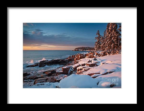 Acadia National Park Framed Print featuring the photograph Acadian Winter by Susan Cole Kelly
