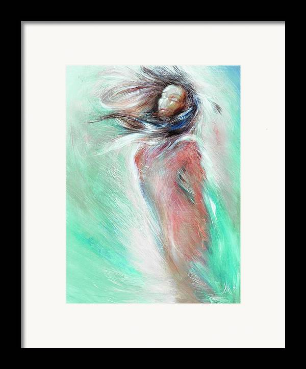 Woman Framed Print featuring the painting Acceptance by Elizabeth Silk