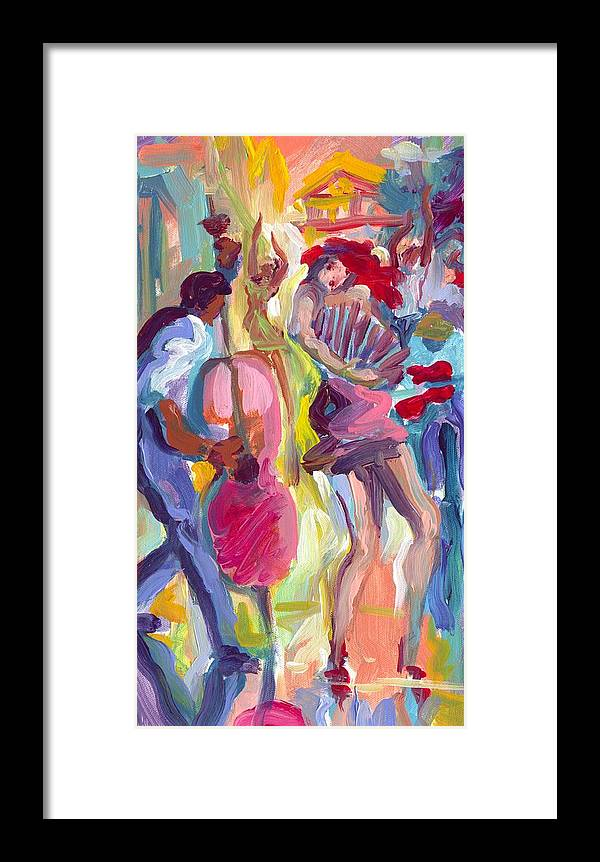 Acordian Framed Print featuring the painting Acordian Collo by Saundra Bolen Samuel